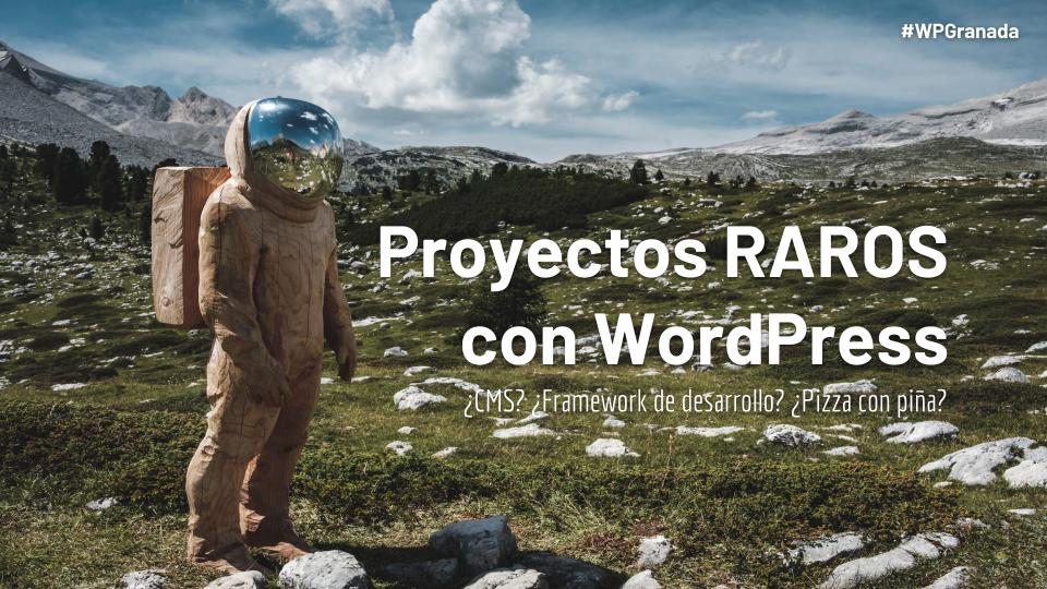 Proyectos RAROS con WordPress